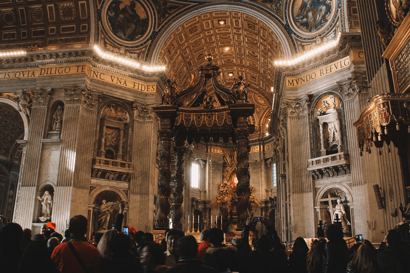 St Peter's Basilica, Vatican is on Europe's Must-See Places Of Worship