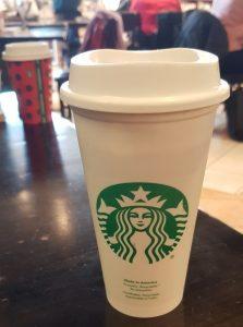 It happened at Starbucks